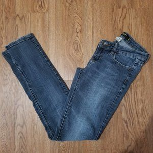 Garage Super Skinny Low Rise Mid Wash Jeans Size 5